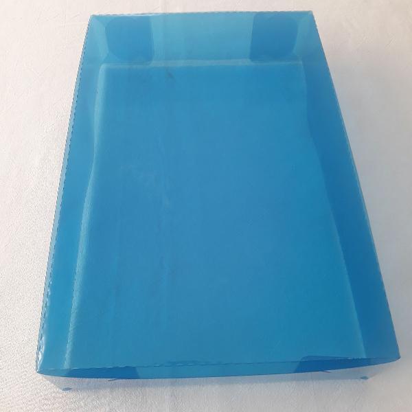 100 caixas p/ presente acetato azul transparente - 25x32x5