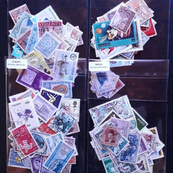 200 selos universais diferentes