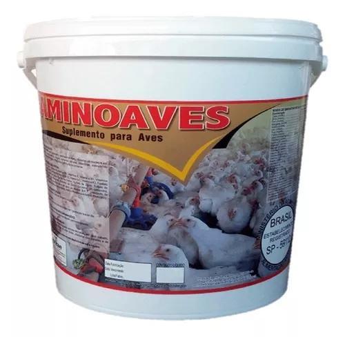 Aminoaves indio gigante galo galinha frango granja + brinde