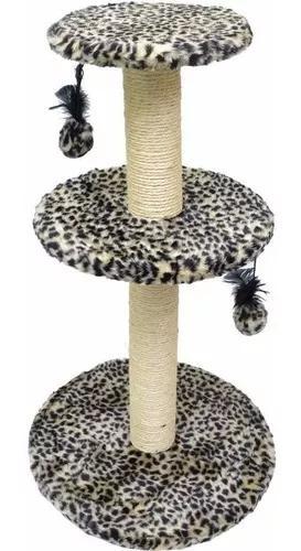 Arranhador para gatos grande 3 plataformas pelúcia