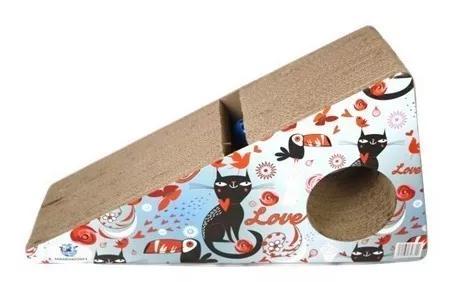 Arranhador rampa para gatos com toca