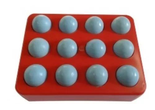 Bandeja c/ 12 unidades ovo indez n 1 azul para canário