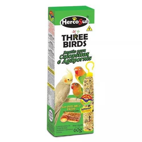 Bastão three birds para calopsitas - 60g