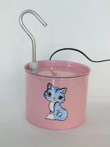 Bebedouro fonte p/gato alumínio 2 lts + brinde - centerarts