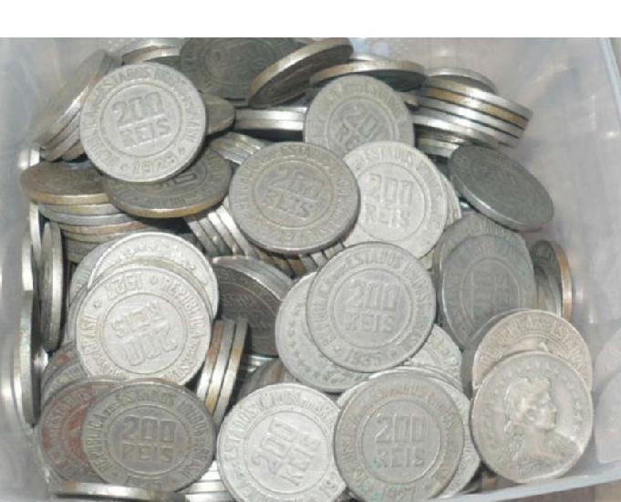Compro moedas de réis por kg. qualquer uma repetidas,etc