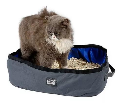 Caixa de areia gatos dobrável p/ viag