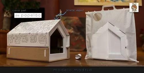 Casa de papelão para cães e gatos - vários modelos