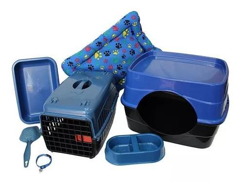 Casa para gato caixa de transporte caixa de areia + brinde