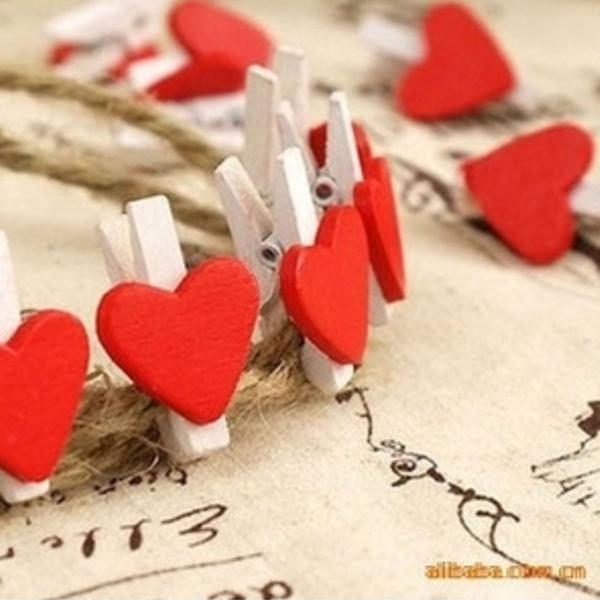Clips de coração (10 un.)