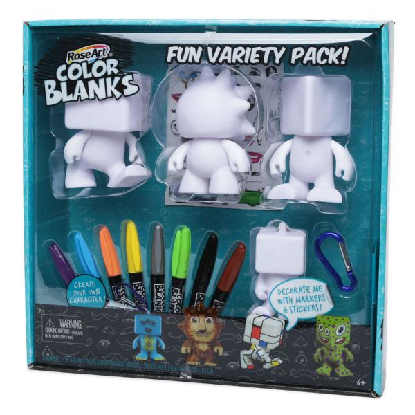 Color blanks doll creator com marcadores e adesivos -roseart