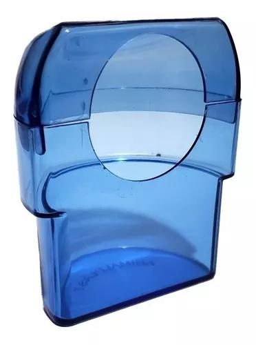 Comedouro meia lua italiano animalplast 60ml - azul - 12 und