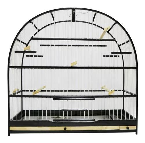 Gaiola para pássaro curió - preta