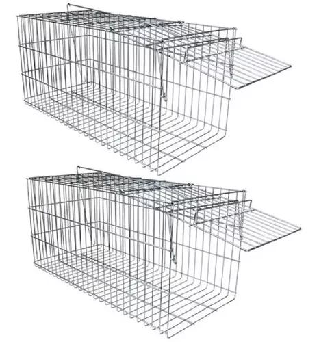 Kit 2 gaiola capturar animais gatos gambas frete grátis br