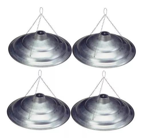 Kit c/ 4 campanulas alumínio elétrica aquecimento
