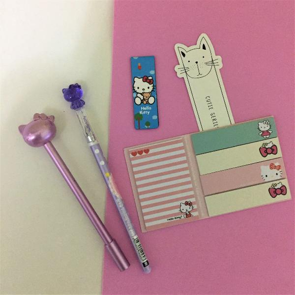 Kit papelaria hello kitty 4