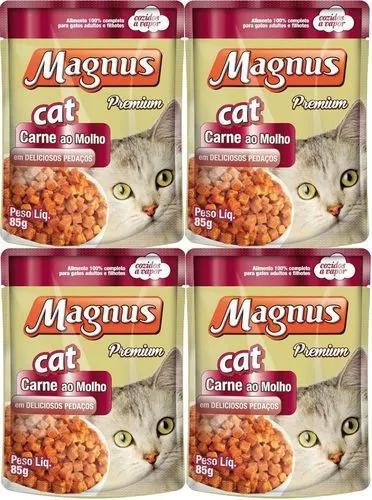 Magnus sache gato adulto carne 80 unidades 85gr