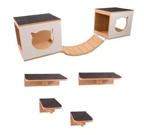 Play kit nicho gatos 7 peças + arranhador