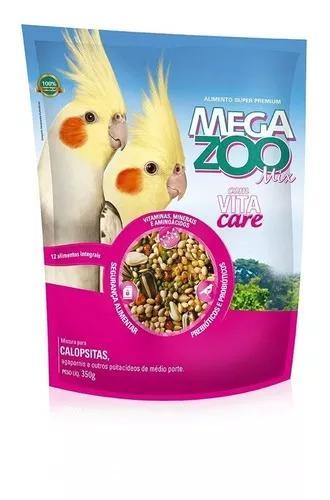 Ração mix para calopsitas megazoo - 350 g