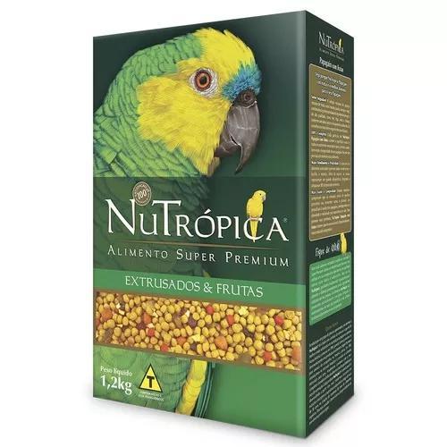 Ração nutrópica com frutas para papagaios - 1,2 kg
