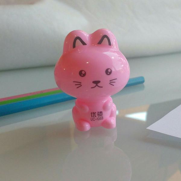 Apontador gatinho rosa