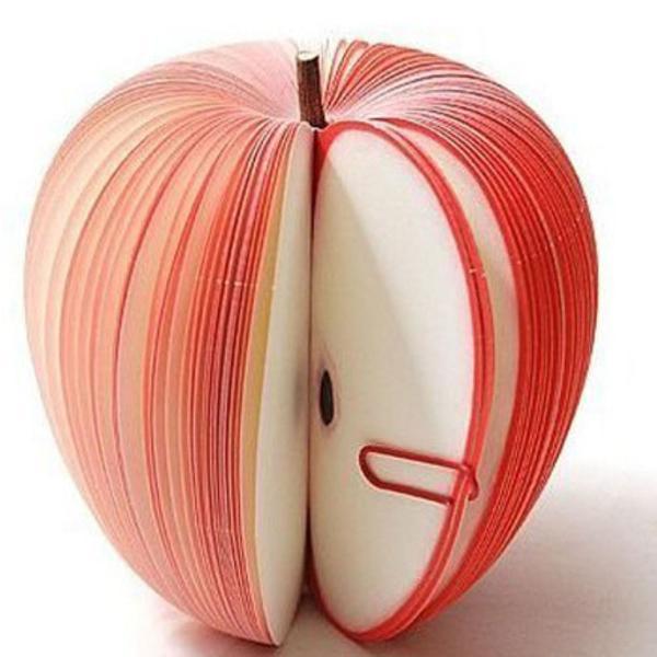 Bloco de notas divertido maçã