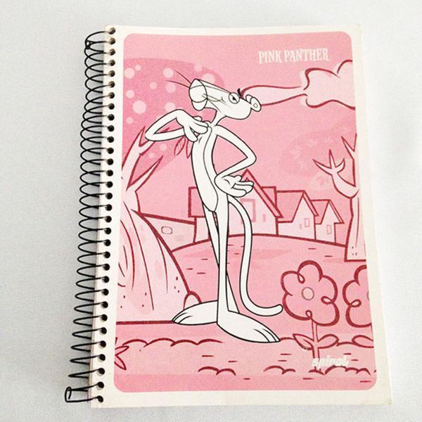 Caderno pantera cor de rosa 1