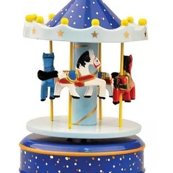 Carrossel musical - caixinha de música azul