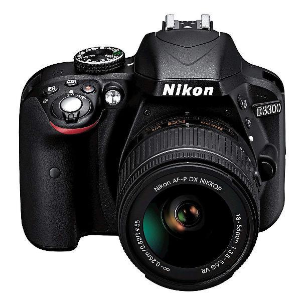 Câmera dsrl nikon d3300 com lente 18-55mm