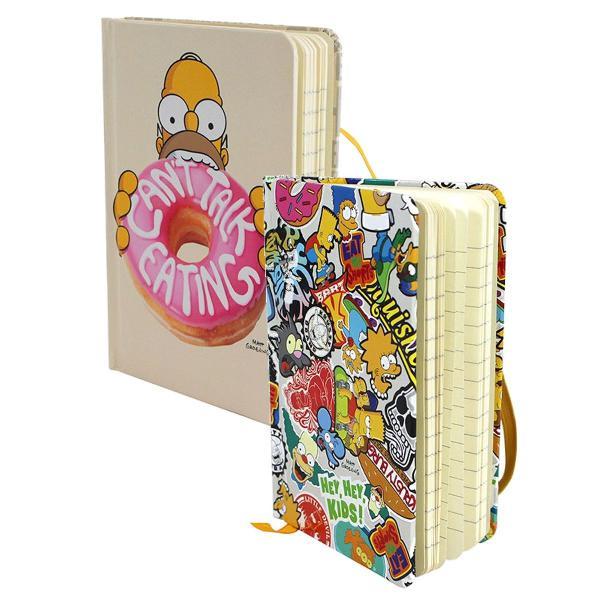 Conjunto de cadernetas de anotações - simpsons - 2