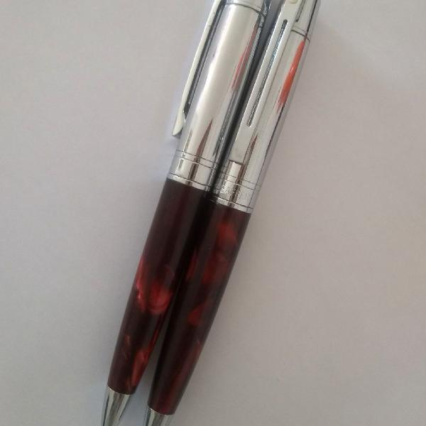 Conjunto de caneta e lapiseira shaffer