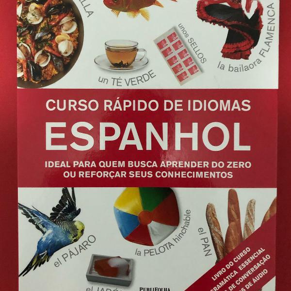 Curso rápido espanhol com cd de áudio
