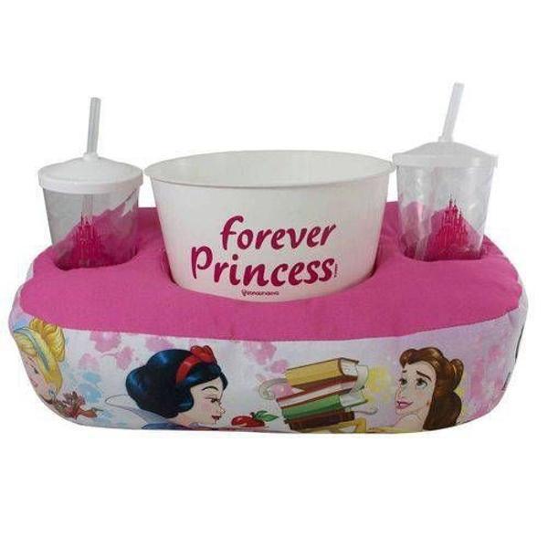 Kit almofada porta pipoca - princesas