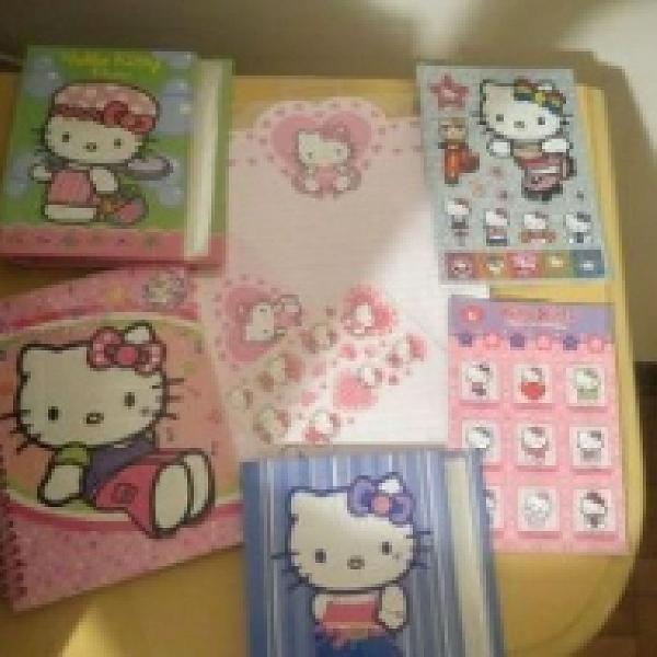 Kit hello kitty adesivos album de fotos papel de carta