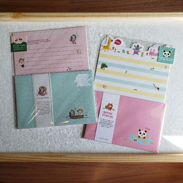 kit papéis de carta coreanos