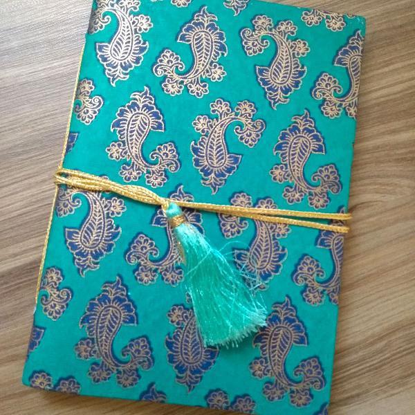 Lindo caderno artesanal feito na índia