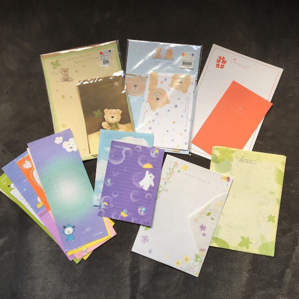 Lote papéis de carta coreanos morning glory