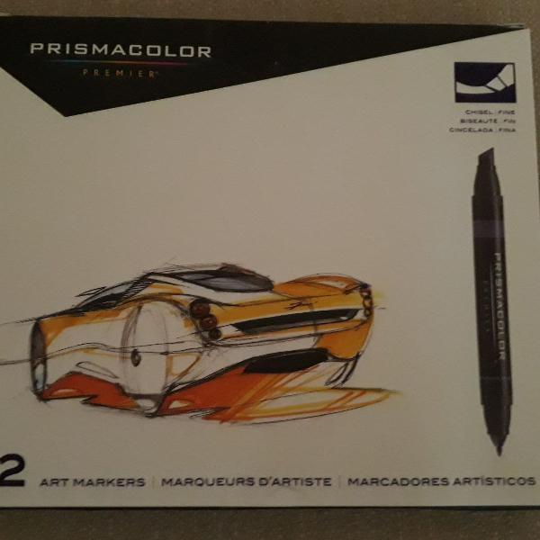 Marcadores artísticos prismacolor 12 cores
