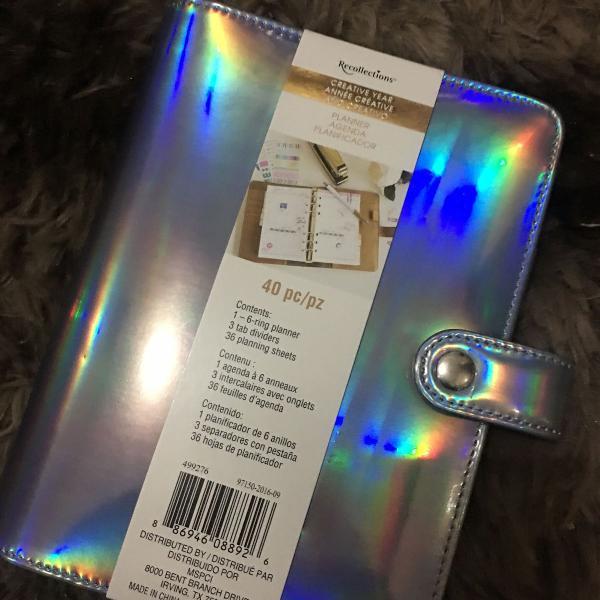Planner holográfico argolado (fichário) - recollections