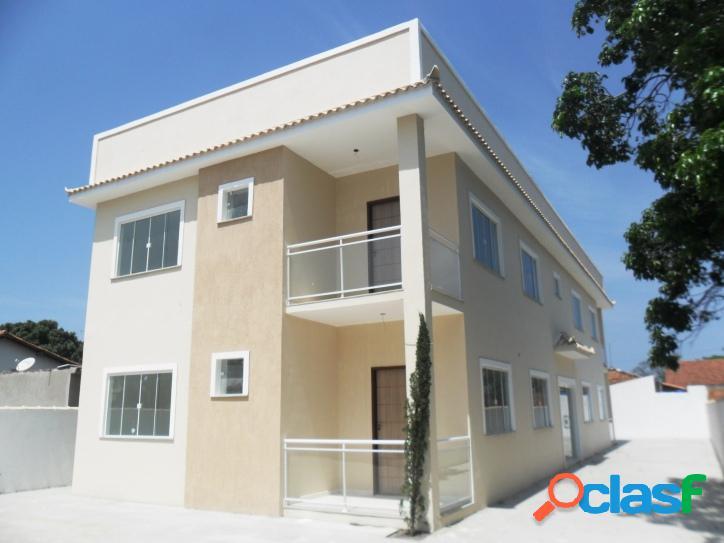 Apartamento novo para venda tem 75 metros quadrados e 2 quartos em bananeiras - araruama - rj.