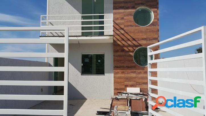 Casas novas de ótimo acabamento, 2 quartos, sala com cozinha americana, 2 banheiros
