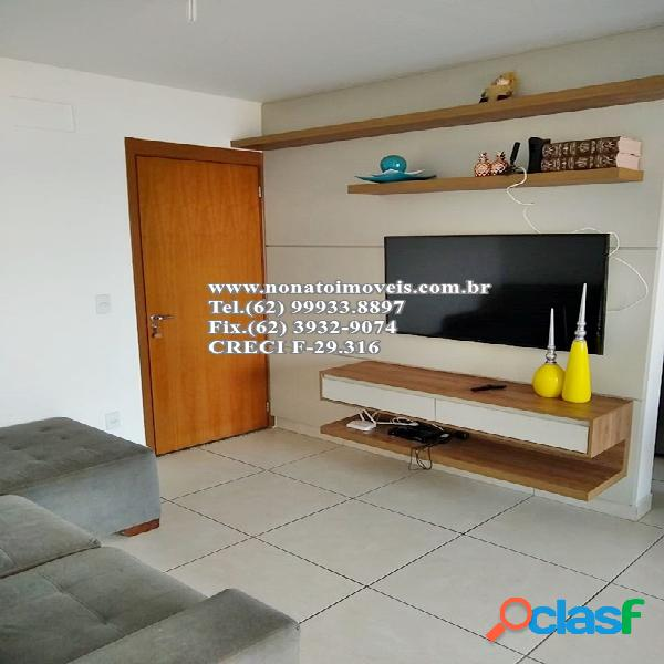 Apartamento 3 quartos (1 suíte), setor santa genoveva. impecável!!!