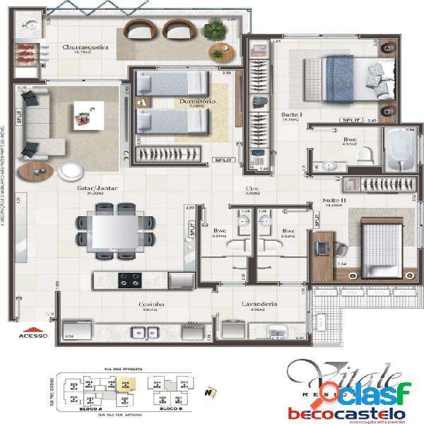 Vitale residence - lançamento centro - beco castelo