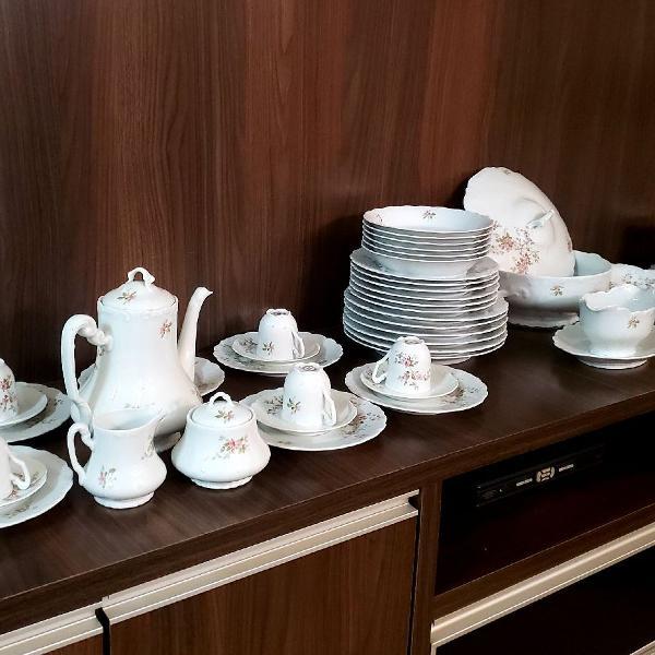 55 peças porcelana limoges antiga