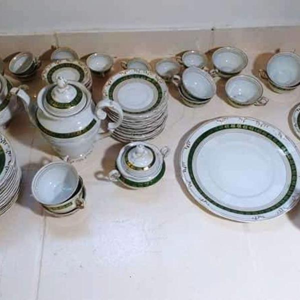 Conjunto de café chá e bolo porcelana schmidt 12 pessoas