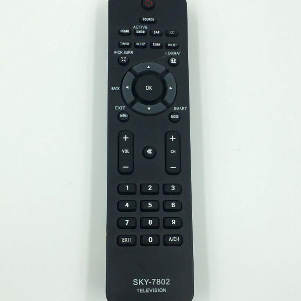 Controle remoto para tv philips sky 7802