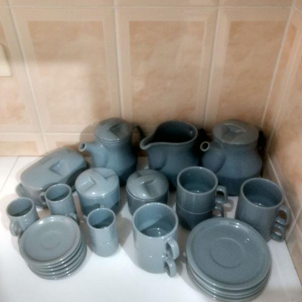 Jogo chá e café para 06 pessoas - cerâmica terracota