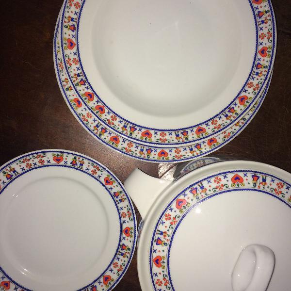 Jogo de jantar porcelana - schmidt - 12 pessoas