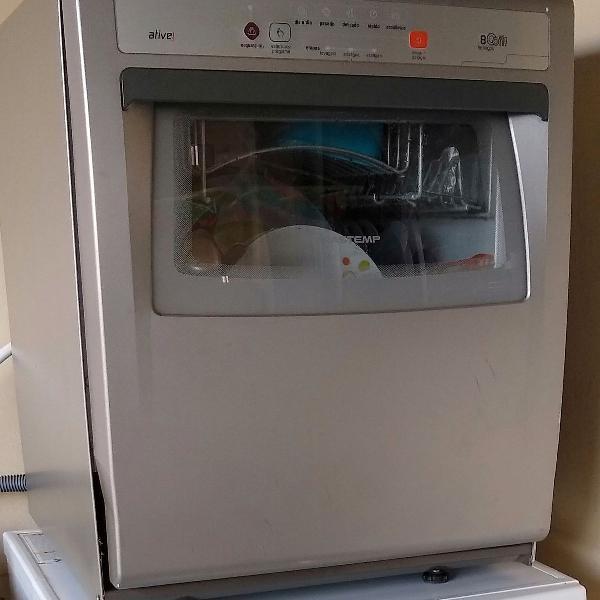 Máquina lava louças brastemp ative prata 8 serviços 110v