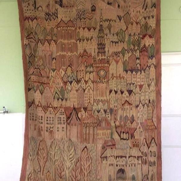 Raro tapete kilim francês art deco - tapeçaria - 2,60 x