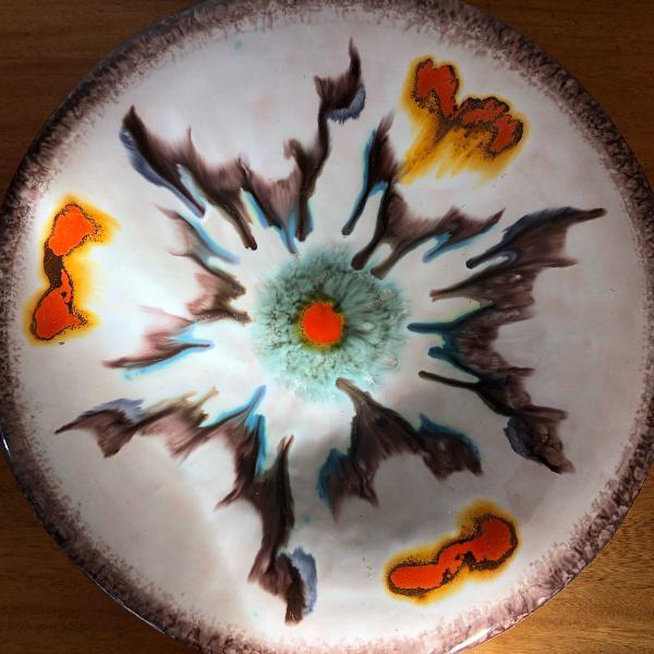 Antigo centro de mesa cerâmica art deco